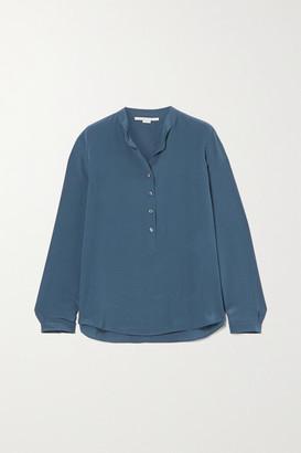 Stella McCartney Eva Silk Crepe De Chine Shirt - Blue