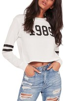 Missguided 1989 Graphic Crop Sweatshirt