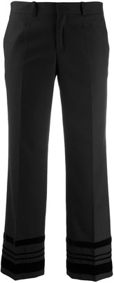 Each X Other velvet striped cropped pants