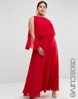 Asos Extreme Cold Shoulder Maxi Dress