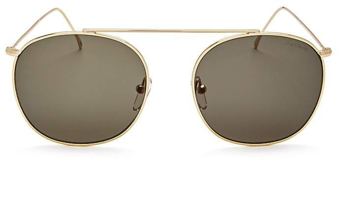 Illesteva Mykonos II Brow Bar Round Sunglasses, 52mm