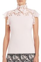 Giambattista Valli Lace Mockneck Top