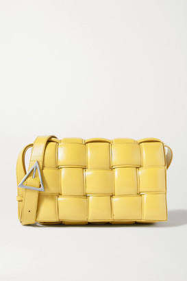 Bottega Veneta Cassette Padded Intrecciato Leather Shoulder Bag - Yellow