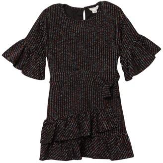 Habitual Remy Knit Rainbow Wrap Dress