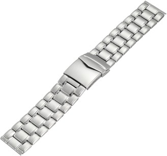 Hadley Roma Hadley-Roma MB9286RWSE 24 24mm Stainless Steel White Watch Strap