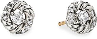 David Yurman Petite Pave Infinity Diamond Stud Earrings