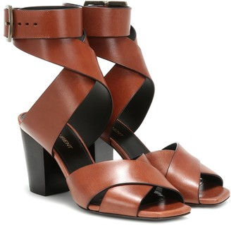 Saint Laurent Oak 75 leather sandals