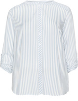 Via Appia Plus Size Roll up sleeve striped shirt