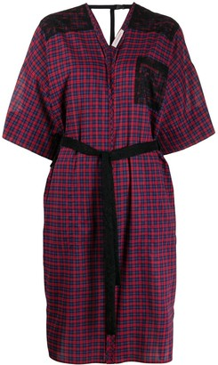A.F.Vandevorst plaid tie-waist midi dress