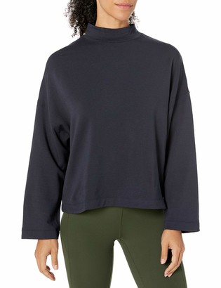 Core 10 Amazon Brand Women's Cloud Soft Yoga Fleece Mock Dolman Sweatshirt
