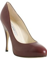 burgundy leather 'Tonya' pumps
