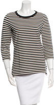 Kate Spade Striped Cutout-Accented Top