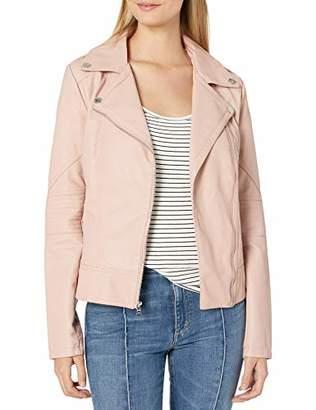 GUESS Women's Faux Leather Moto Jacket