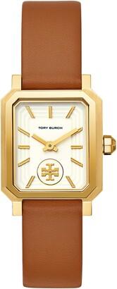 Tory Burch Robinson Leather Strap Watch, 27mm x 29mm
