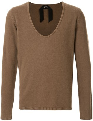No.21 Deep V-Neck Jumper