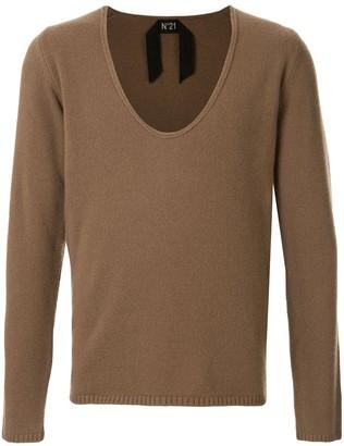 No.21 deep v-neck jumper