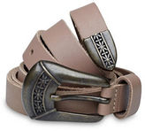 Liebeskind Antiqued Buckle Leather Belt