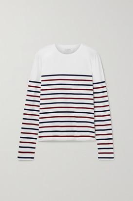 La Ligne Lean Lines Striped Cotton-jersey Top - Ivory
