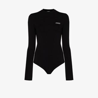 Kirin Logo-Print Open-Back Bodysuit