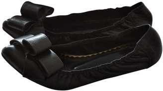 ras Black Leather Ballet flats