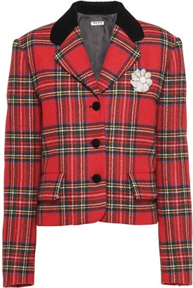 Miu Miu Tartan-Check Wool Jacket