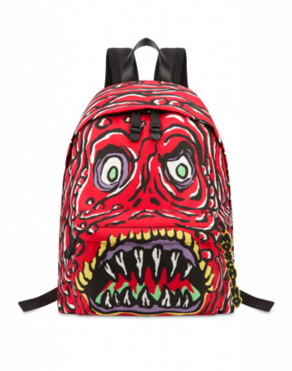 Moschino Monster Backpack Man Red Size U It - (one Size Us)