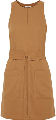 Joie Puck Belted Crepe Mini Dress