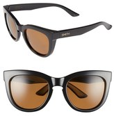 Smith Optics Women's 'Sidney' 55Mm Polarized Sunglasses - Black/ Polarized Brown