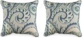 Miles Talbott Collection S/2 Boston Manor 19.5x19.5 Pillows, Sea