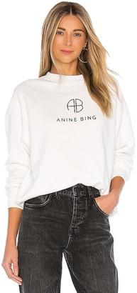 Anine Bing Ramona Monogram Sweatshirt