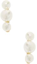 Rebecca Minkoff Triple Pearl Stud Earrings
