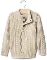 Gap Cozy cable mockneck sweater