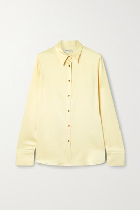 Georgia Alice Satin Shirt - Cream