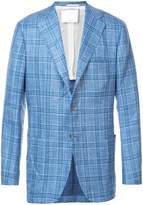 Kiton plaid long sleeved jacket