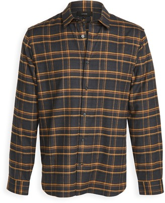 Vince Long Sleeve Windowpane Plaid Shirt