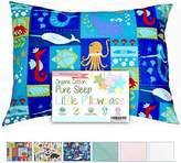 Dreamtown Kids Organic Cotton Woven Toddler Pillowcase - (Under the Sea) 14 X 19 by Dreamtown Kids