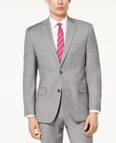 Michael Kors Men's Classic-Fit Airsoft Stretch Grey Solid Suit Jacket