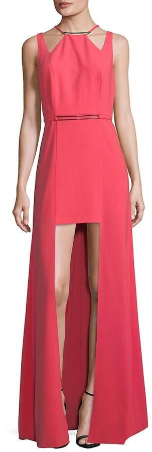 Halston Women's Cutout High-Low Dress