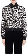 Saint Laurent Women's Leopard-Print Lamb Fur Bomber Jacket