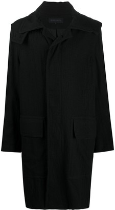 Ann Demeulemeester Hooded Single-Breasted Coat