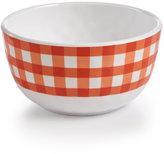 Certified International Frida Gingham Orange Melamine Cereal Bowl
