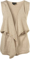 Topshop Knitted Waterfall Waistcoat
