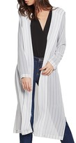 BCBGeneration Stripe Hooded Duster Cardigan