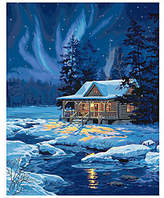 Dimensions Paint-by-Number Kit - Moonlit Cabin