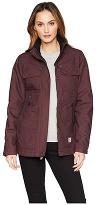 Carhartt Quick Duck(r) Jefferson Traditional Jacket (Deep Wine) Women's Coat