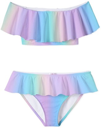 Stella Cove Pastel Rainbow Two-Piece Swimsuit