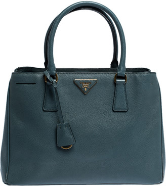 Prada Moss Green Saffiano Lux Leather Medium Galleria Tote