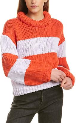 Tibi Mock Neck Tube Yarn Sweater