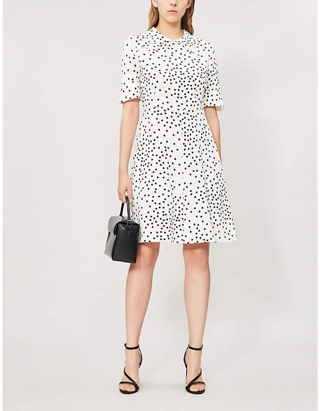 Stella McCartney Polka-dot flared crepe dress