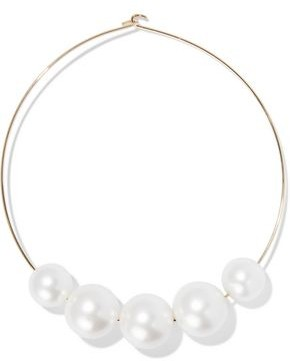 Kenneth Jay Lane Gold-plated Faux Pearl Necklace